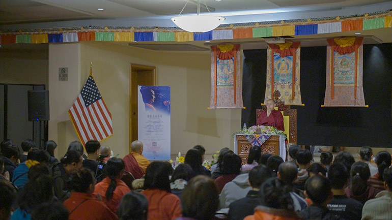 Khenpo Tsultrim Lodro-2018 Teaching Series in the USA-Guided Session on Emptiness Meditation